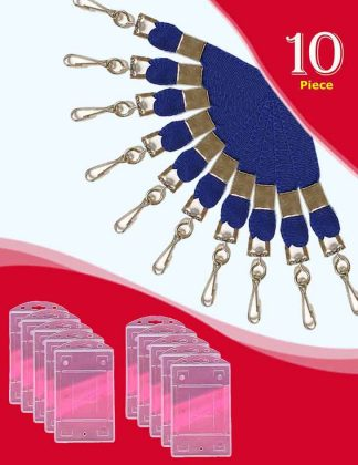 Flat Lanyard Royal Blue Colour and Holders
