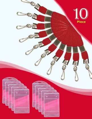 Flat Lanyard Red Colour and Holders